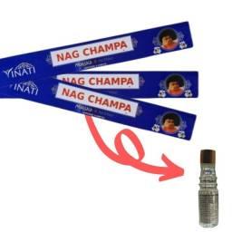 Incenso Nag Champa Massala Vinati 3cx + Brinde