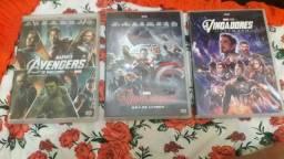 3 dvds os vingadores