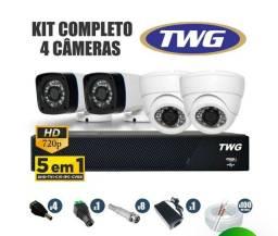 Cameras por assinatura Kit 4 câmeras completo instalado.