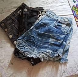 3 Bermudas Jeans Usada - Tam 44