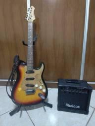 Título do anúncio: Conjunto de guitarra para iniciantes