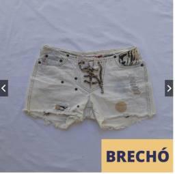 Shorts Jeans Azul Claro Desfiado