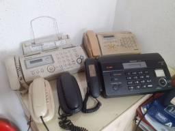 Três Fax e dois Telefones (Em Ótimo Estado)