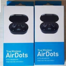 Fone de ouvido AirDots via bluetooth