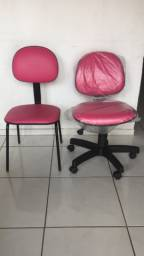 Cadeira secretaria e cadeira fixa