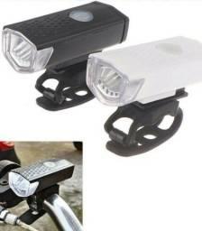 Kit farol e lanterna para bike com carregador USB novo