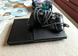 Playstatio 2 + jogos (1 controle)