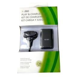Bateria Recarregável E Carregador cabo Usb para controle Vídeo Game Xbox 360
