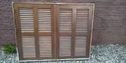 Janelas madeira maciça