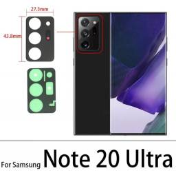 Vidro da câmera Samsung Note 20 Ultra.