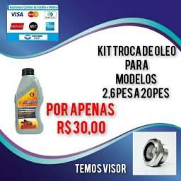 Kit troca de óleo para compressores 2,6pes a 20pes