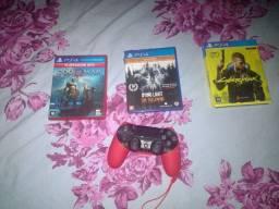 Controle original + 3 jogos Play 4