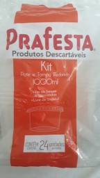 Pote  Descartável 1000 ml  redondo p/ Freezer / microondas 24 UNIDADES