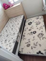 Cama box solteiro com colchão auxiliar - Ortobom