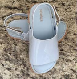 Mini Melissa Beach Slide Sandal Azul Bege