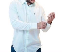 Camisa Verde Manga Longa 50% OFF