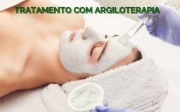 Tratamento facial de argiloterapia