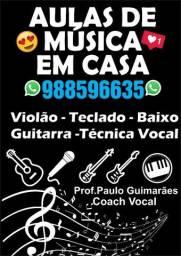 AULAS DE MÚSICA EM CASA!