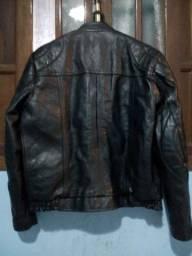 jaqueta couro legitimo reforçada