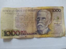 Cédula 1000 cruzados - Machado de Assis