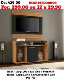 Vendo Barato P/ Vender Rápido - Rack Com Painel de TV até 43 Plg. Novo na Caixa