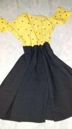 Vestido rodado ciagninha P
