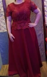 Vestido de festa madrinha cor Marsala