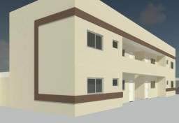 Apartamento de 2 quartos com porcelanato e suíte perto do shopping Águas Lindas