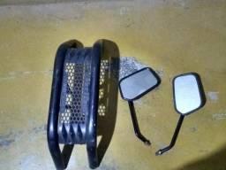 Mata Cachorro Pro Tork e Retrovisores originais Honda