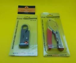 Kit ferramentas para terminal cabo coaxial