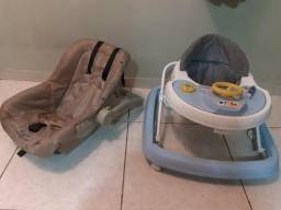 Bebê conforto + andandor +urso tartaruga