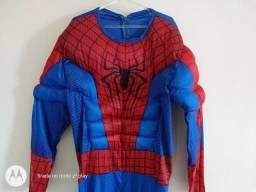 Fantasia adulto homem aranha, recebemos cartoes