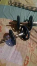 Peso de musculação para braços