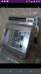 Máquina registradora antiga funciona