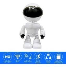 Câmera De Segurança Em Formato De Robo Wifi S/ Fio Full Hd