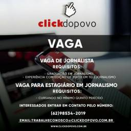 Vagas para Jornalista e Estagiários em jornalismo