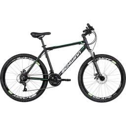 Bicicleta Aro 26 Schwinn Mountain com 21 Marchas e Suspensão Dianteira - Preta