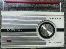 Rádio Vitrola Vintage Portátil Sharp Funcionando
