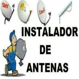 Instalação e manutenção de antenas em geral