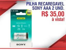 Pilha Recarregável AAA 2 Unidades Sony