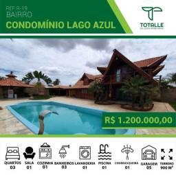 Belíssima Casa no Condomínio Lago Azul em Penápolis/ SP ( 900 m²)