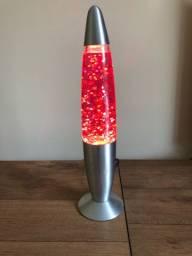 Luminária Lava Rosa Usada - Perfeito estado