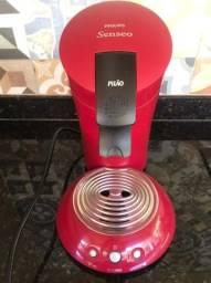 Cafeteira semi nova Philips Senseo Pilão vermelha