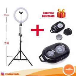 Ring Light Tripé + Iluminador Foto Make Led Com Garantia
