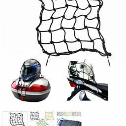 Rede de carga para capacete de moto