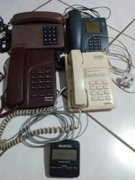 Vendo quatro aparelhos de telefone fixo e uma bina