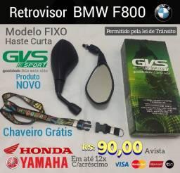 Retrovisor BMW F800 fixo haste Curta Honda Yamaha Suzuki ref009171