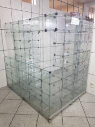 Vendo balcão modulado em vidro