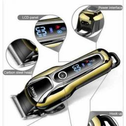 Máquina de Cortar Cabelo Sem Fio + Frete GRÁTIS -Turbo Profissional Kemei - BH