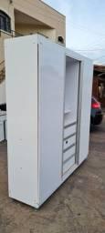 Guarda roupa casal porta correr usado 1.80cm x 2mt - entrega e montagem grátis